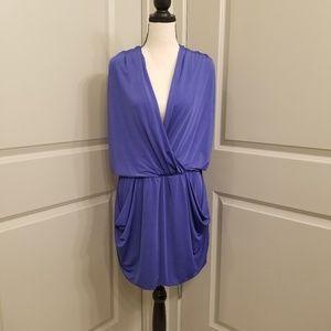 RACHEL Rachel Roy Silky Deep V Pocket Dress